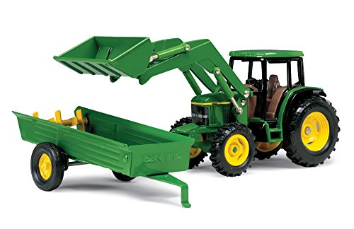 ERTL John Deere 6210 Tractor With Loader And Manure Spreader (1:32 Scale)