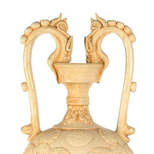 tapidecor ANFORA Clasica Ceramica Beige con Asas 26X47