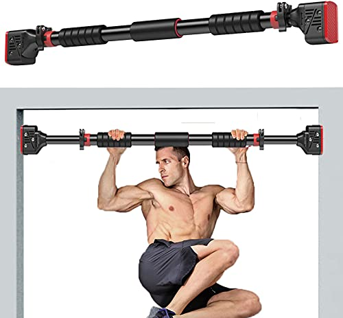 Pull Up Bar for Doorway, Chin up Bar No Screw Installation with Adjustable Width Locking, Upper Body Workout Bar for Home Gym Exercise Fitness (45.27)