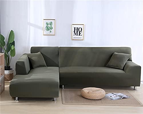 WXQY Funda de sofá elástica Funda de sofá elástica Que Envuelve firmemente la Funda de sofá Antideslizante para sofá Modular de Esquina en Forma de L A7 de 3 plazas