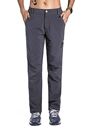 unitop Women's Outdoor Anytime Hiking Pants Gray L 29' Inseam