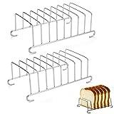 Brotregal Toastständer Brot Ständer aus Edelstahl Brotregal Zubehör für die Luftfritteuse Esszimmer-Halter Toast Rack für Toast Esszimmer Kühlung Brot Zubehör Küchenkühlgitter Lebensmittel (2 Stück)