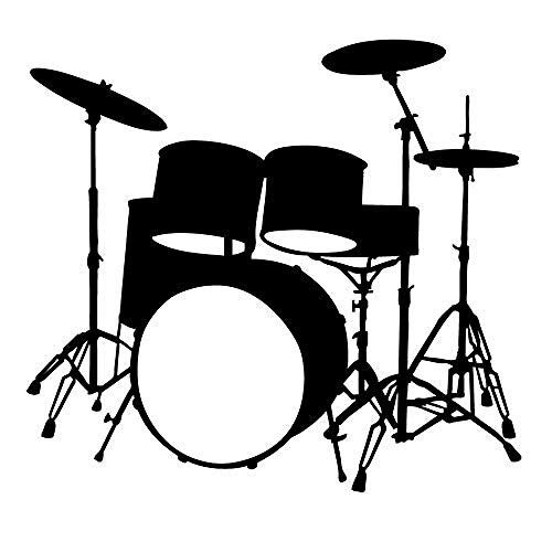 Etiqueta de La Pared Instrumentos Musicales Tambor Tatuajes de Pared Decoración Para El Hogar de Vinilo Removible Impermeable Etiqueta de La Pared Living Room63X59Cm