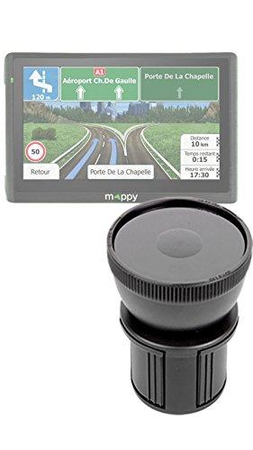 DURAGADGET Support Voiture Porte-gobelet Compatible avec GPS Mappy Ulti 546 Europe, Ulti S547 FM et Ulti E528s 5\