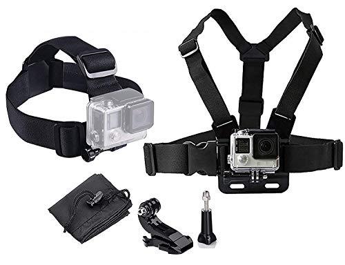 LONDON FAB Arneses para cámaras de acción, compatibles con GoPro y Todas Las cámaras de acción (arnés de Pecho + arnés...