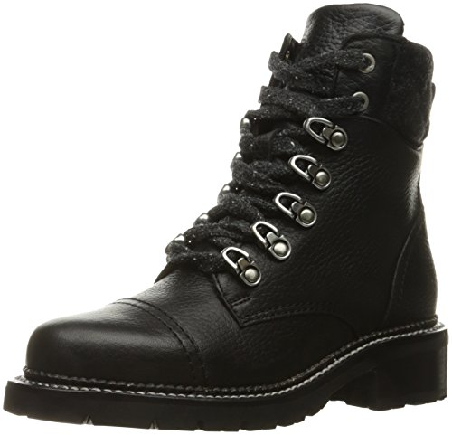 FRYE Women's Samantha Hiker Combat Boot, Black, 8.5 M US