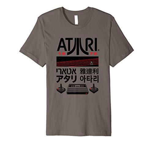 Atari Retro 1972 Japanese Text Premium T-Shirt, Adults, S to 3XL