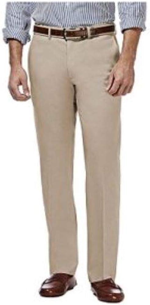 Haggar Men's Performance Comfort Casual Pant in TAN, Size 34X30