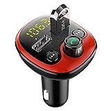 Adesign Transmetteur de Voiture Bluetooth 5.0 FM, Adaptateur Radio de Chargeur de Voiture Rapide...