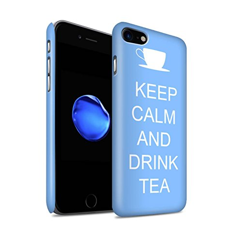 Stuff4 telefoonhoesje/Cover/Skin/IP-3DSWM / Keep Calm Collection Apple iPhone SE 2020 Drink Thee/Blauw