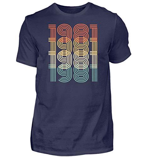 40 Jahre Geburtstag Vintage Tshirt 40 Jahre Geschenk Geschenkidee 1981 40er 85AYV8U5 - Herren Shirt -L-Dunkel-Blau