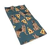 antoipyns German Shepherd Pizza Toallas de cocina de microfibra para secar platos y derrames de manchas para decoracin de tu cocina 15.7 x 27.5 pulgadas, para Hombres/Mujeres/ni?as/ni?os