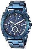 Fossil Men's Privateer Sport Quartz Stainless Steel Multifunction Watch, Color: Blue (Model: BQ2319)
