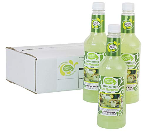Master of Mixes Margarita Lite Drink Mix, Ready To Use, 1 Liter Bottle (33.8 Fl Oz), Individually Boxed
