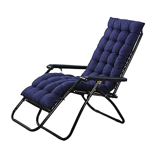 DERUKK-TY Cuscini per Chaise Longue da 60 Pollici Cuscino di Ricambio per mobili da Giardino Materasso per Sdraio Imbottito in Tinta Unita, per Giardino sul Ponte all'aperto/Interno