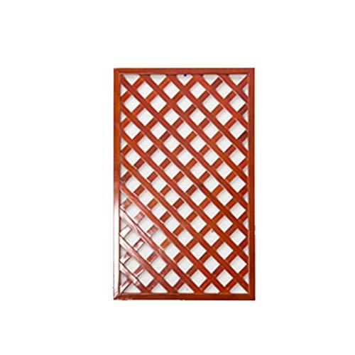 ESTEAR Wooden Framed Square Garden Trellis With Lattice Framework Wall Decorative Fence Plant Climbing Frame 50 * 50 Cm