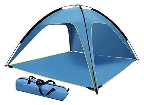 pwmunf Fácil configuración automática Pop Up Sun Shade Camping Tent Picnicing Pesca Senderismo Canopy Easy Setup portátil (Color : Blue, Size : 210x210x130cm)