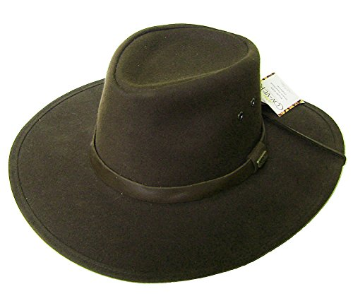 Modestone Unisex Covver Oilskin Chapeaux Cowboy Chinstring Brown