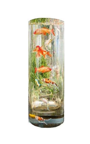 MAUK Gartenteich Fischsäule | Koi Fischturm | Aussichtsturm mit Sockel | 100+40x35 cm