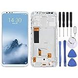 DONGYAO Pantalla táctil de repuesto para Meizu TFT Material Pantalla LCD y digitalizador de montaje completo con marco para Meizu 16th (color: blanco)