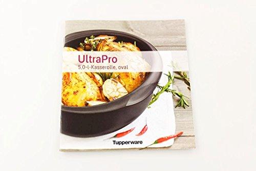 TUPPERWARE Rezeptheft 5,0L Kasserolle Oval Ultra Pro Kochheft Deutsch kochen P 18578