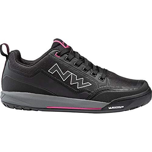 Northwave Clan Damen MTB Dirt Fahrrad Schuhe schwarz/grau/pink 2021: Größe: 40