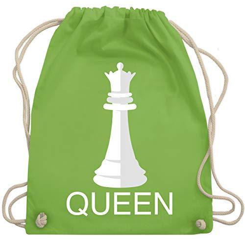Shirtracer Karneval & Fasching - Queen Schachfigur Karneval Kostüm - Unisize - Hellgrün - Geschenk - WM110 - Turnbeutel und Stoffbeutel aus Baumwolle