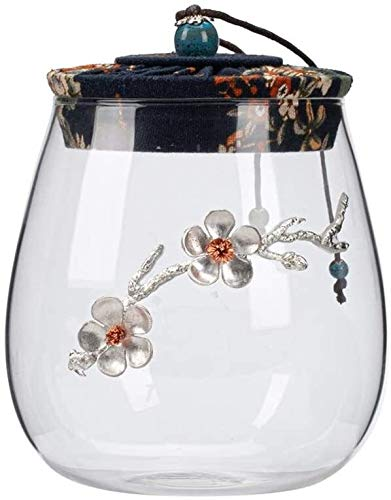 Pet Cremation Urn for Ashes Funeral Urns For Ashes Adult, Moisture-proof Household Storage For Large Transparent Glass Sealed Jar For Human And Pet Ashes,Dog, Cat Garden Urns for Ashes TQZHENG