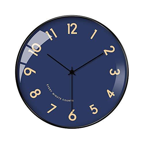 XMBT Los Elegantes Relojes de Pared alegrarán Cualquier hogar,Creativo Vintage Art Wall Decorativo Sala de Estar Relojes para el hogar Relojes de Pared de Cocina Reloj de Pared Tradicional