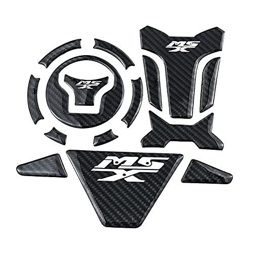 Protector DE Tanque Moto Protector De Cubierta De Tanque De Combustible De Fibra De Carbono 3D, Juego De Tapa De Gas, Calcomanía De Tracción Antideslizante para Ho-nda Grom MSX MSX125 SF