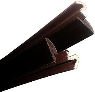 Q-Lon Door Kit with Vinyl Carrier Door Weatherstripping Brown