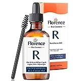 100 ml, FLORENCE Aceite de ricino orgánico, prensado en frío, puro - Estimula y fortalece el crecimiento del cabello, barba, pestañas, cejas, uñas, cutículas y piel