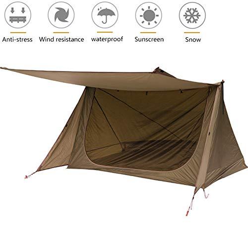 3 Personnes Tente De Camping 100% Imperméable Tissu Oxford 210D 2 Personnes Tente Légère pour Camping Outdoor Double Shelter
