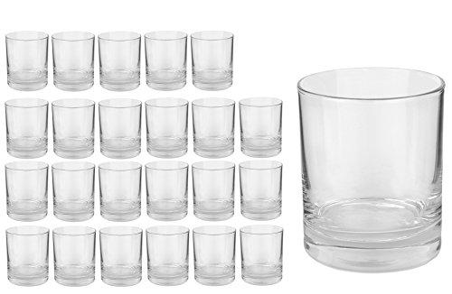 Van Well Gala Cocktailglas, Tumbler, Softdrink-Glas, Whiskyglas, 250 ml, im 24er-Set