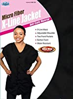 Dream Salon Ware X-Line Jacket - Black Medium, Salon Quality Garment, Professional Salon Jacket [並行輸入品]