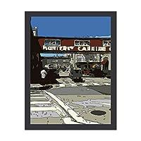 INOV モンテレー湾 缶詰工場 列 絵画 アートフレーム ポスター 壁掛け 壁飾り 絵画 アートパネルフレーム 額縁 ウォールデコ おしゃれ 飾る 記念 ギフト模様替え