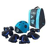 Wcx Vêtements de protection pour enfants de casque de ski pour enfants, genouillères, coudières et...