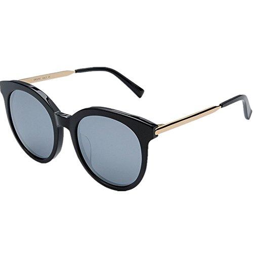 Ppy778 Gafas de Sol polarizadas Unisex Classic Round Metal Frame Retro Gafas de Sol