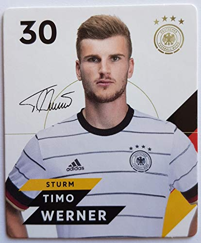 Rewe EM 2020 DFB - Sammelkarten - Normale - Nr. 30 - Timo Werner - Plus 1 spezielle toysagent Sonderkarte