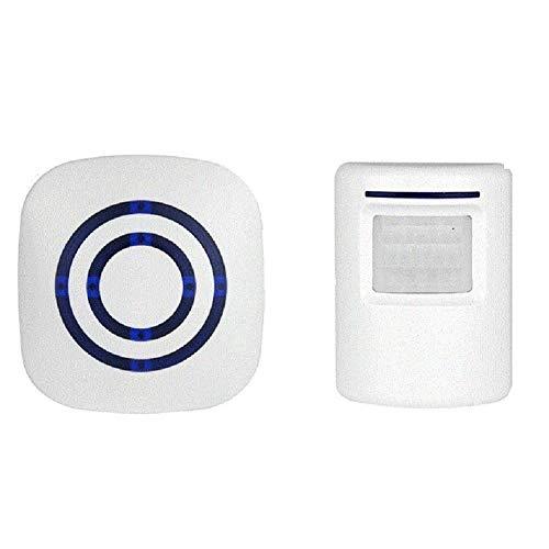 Sensore campanello porta, set campanello radio portatile, rilevatore di passaggio radio rilevatore di movimento 300 metri campanello negozio (1 x ricevitore + 1 x emettitore)