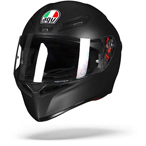 AGV K1 Mono ECE2223 0281A4I0_003_ML Casco Moto, Nero Opaco, ML