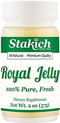Stakich Fresh Royal Jelly - 100% Pure, All Natural, Highest Quality - No Additives/Flavors/Preservatives Added - 16 oz (454g)