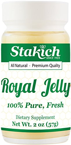 Stakich Fresh Royal Jelly - Pure, All Natural - No Additives/Flavors/Preservatives Added - 2 oz...