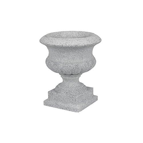 Maceta copa Ánfora Jardinera Jarrón Carcasa Gris Redondo D 28cm decorativo de plástico