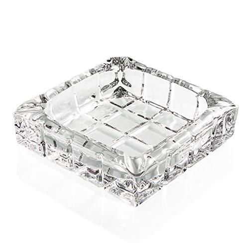 Cenicero Cenicero De Cristal Personalidad Creativa Muebles para El Hogar Cenicero Práctico Adornos Decorativos Regalos (Color : Clear, Size : 14 * 4cm)