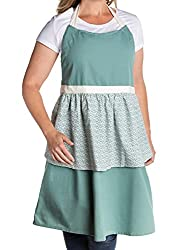 teal feminine apron, a great kitchen gift for mom