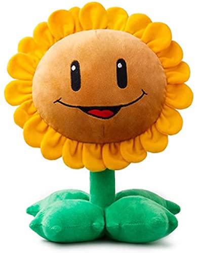 Plantas vs Zombies sonriendo sol flor de peluche de juguete de dibujos animados de Anime suave muñeca de felpa decoración de la habitación juguetes regalos para niños 30cm