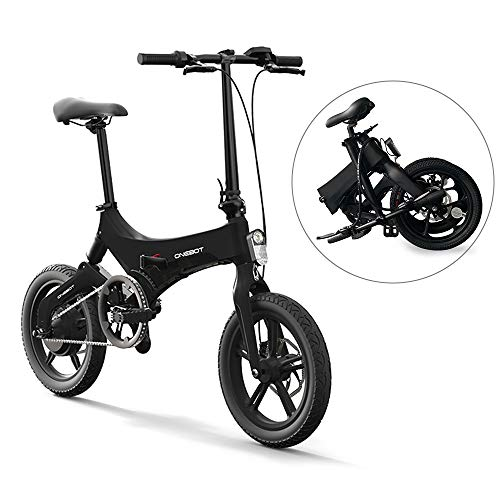 Lixada Bicicleta Eléctrica Plegable de 16 Pulgadas Power Assist Ciclomotor Bicicleta Eléctrica E-Bike 250W Motor y Frenos de Disco Duales