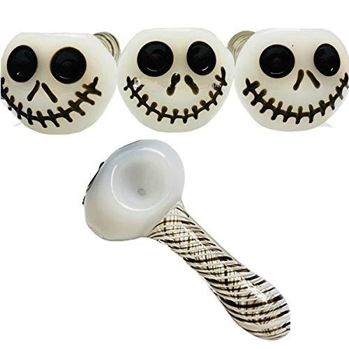 Fyeep Halloween Decoraties Skeleton Hoofd Glas Pijp Fluitje Olie Brander Pijpen Roken Accessoires voor Party Mooi geschenk