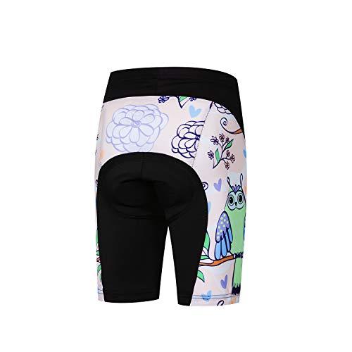 Jpojpo Fahrrad-Shorts für Kinder, kurze Hose, 4D-Gel-gepolsterte Fahrradhose XXL rose